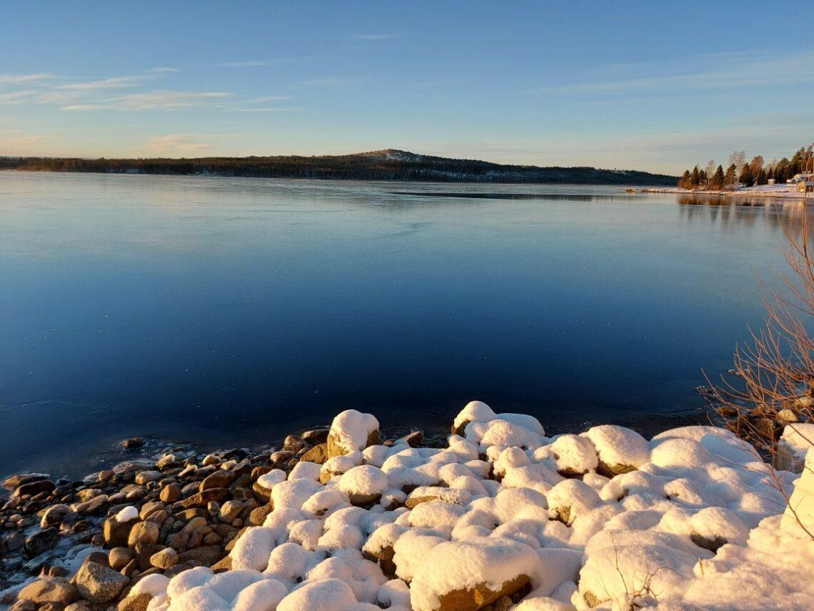 Vacker vinter i Örnsköldsvik